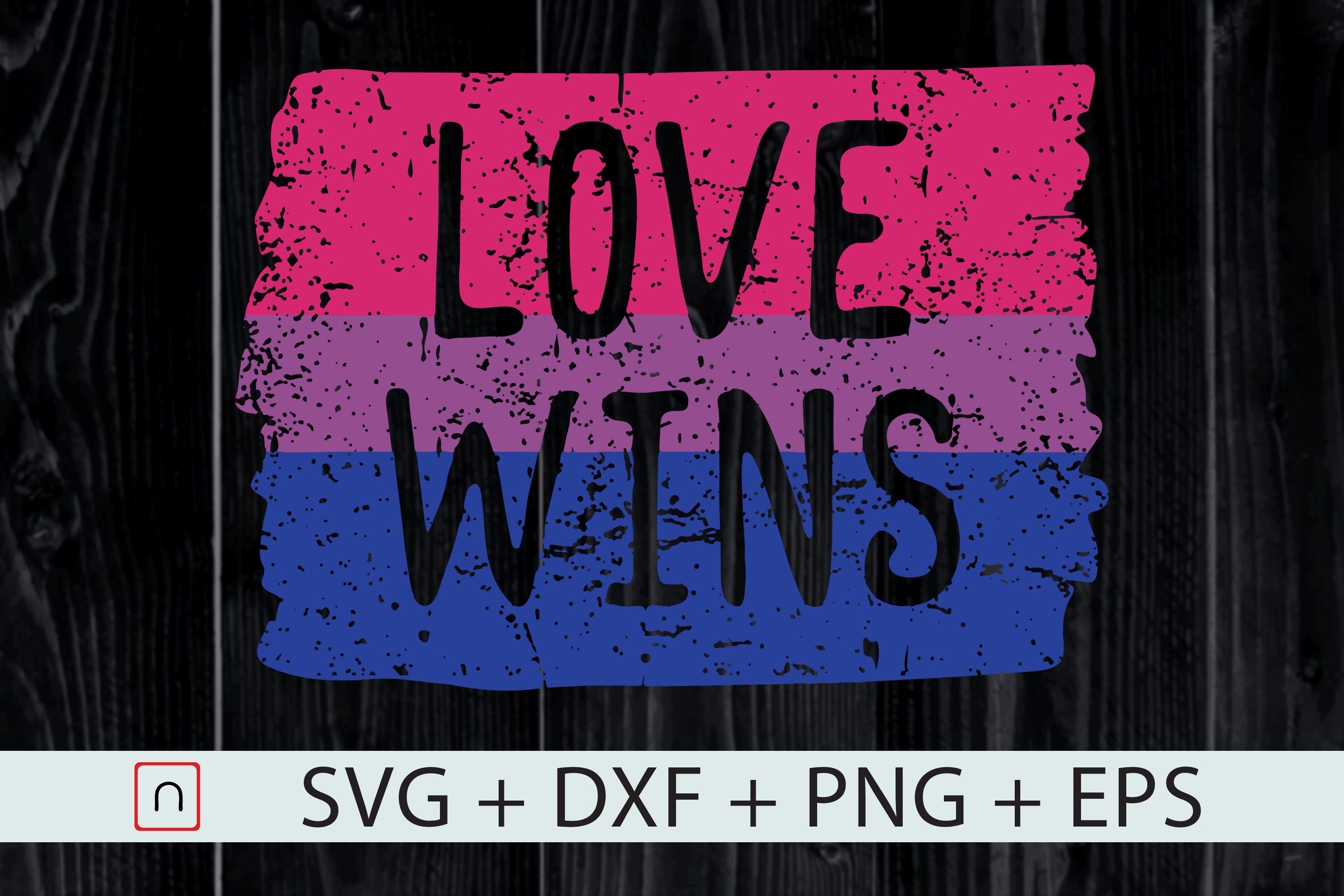 Download Free Love Wins Lgbt Bi Pride Colors Graphic By Novalia Creative for Cricut Explore, Silhouette and other cutting machines.