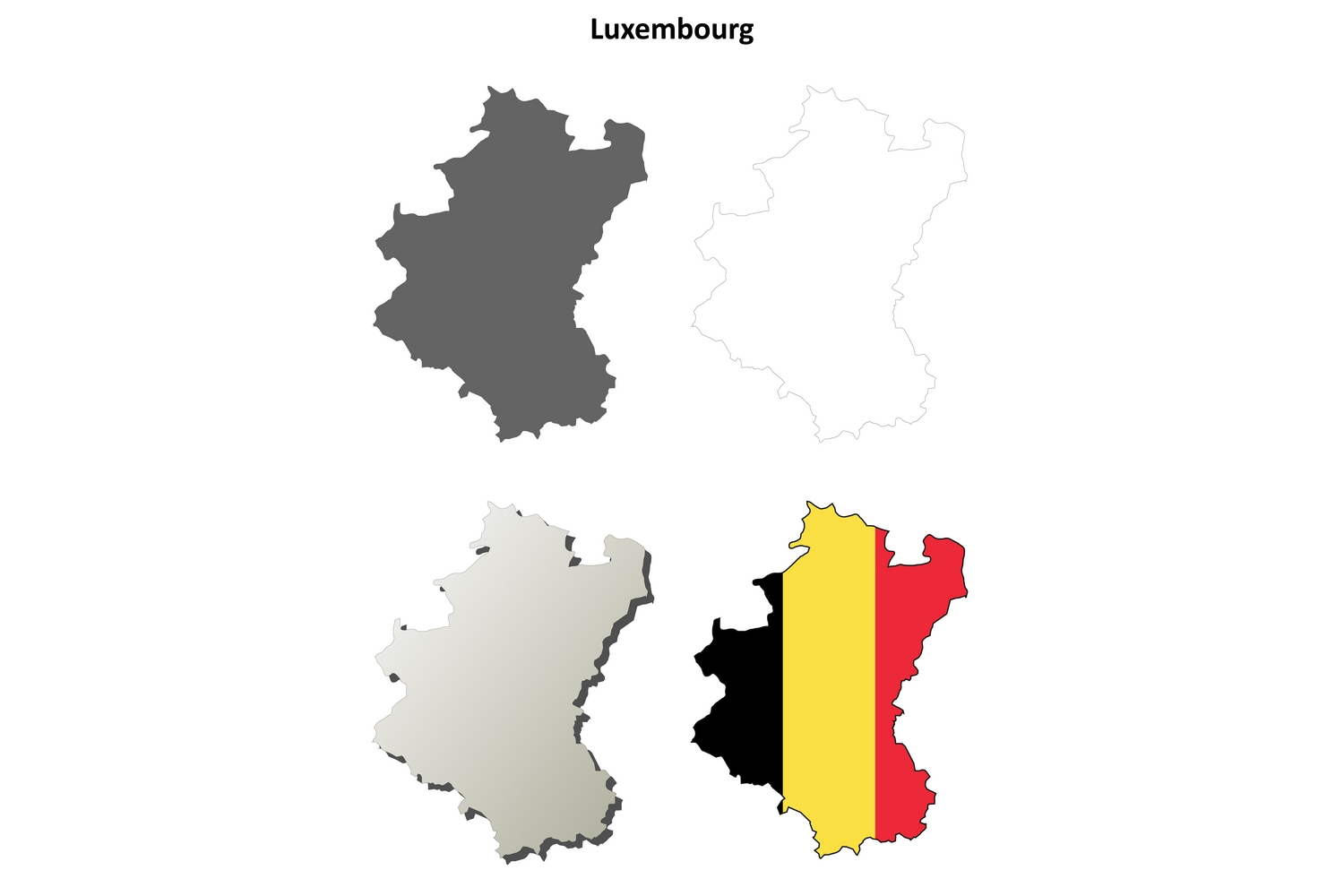 Download Free Luxembourg Map Set Belgian Version Graphic By Davidzydd Creative Fabrica for Cricut Explore, Silhouette and other cutting machines.