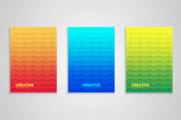 Minimal Gradient Cover Background Set Graphic Backgrounds By medelwardi