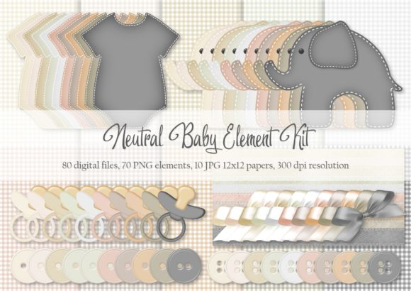 Download Free Neutral Baby Element Kit Graphic By Simply Paper Craft for Cricut Explore, Silhouette and other cutting machines.