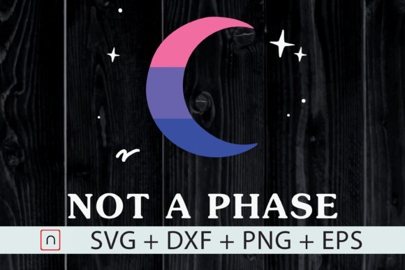 Download Free Not A Phase Flag Moon Lgbt Bi Grafico Por Novalia Creative for Cricut Explore, Silhouette and other cutting machines.