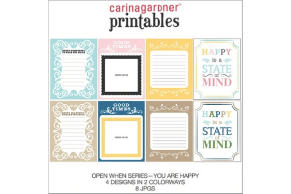 Download Free Open When Happy Graphic By Carina2 Creative Fabrica for Cricut Explore, Silhouette and other cutting machines.