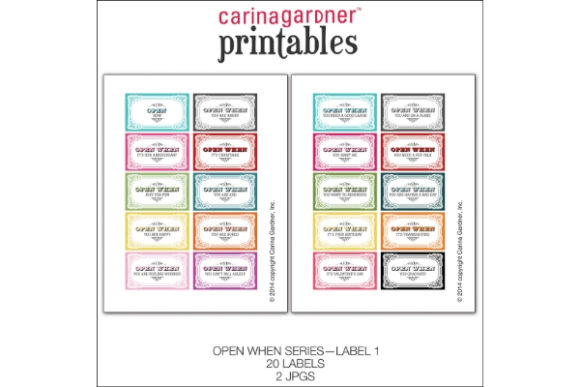 Download Free Open When Label Graphic By Carina2 Creative Fabrica for Cricut Explore, Silhouette and other cutting machines.