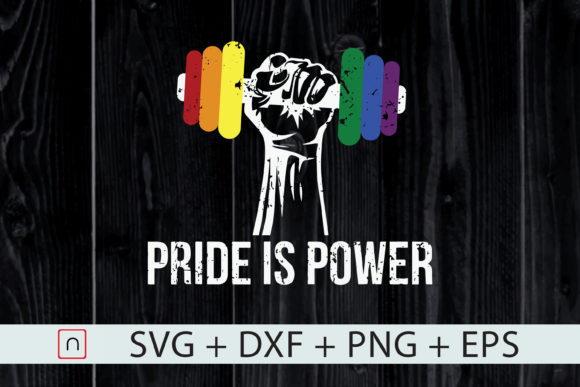 Download Free Pride Is Power Lgbt Rainbow Graphic By Novalia Creative Fabrica for Cricut Explore, Silhouette and other cutting machines.