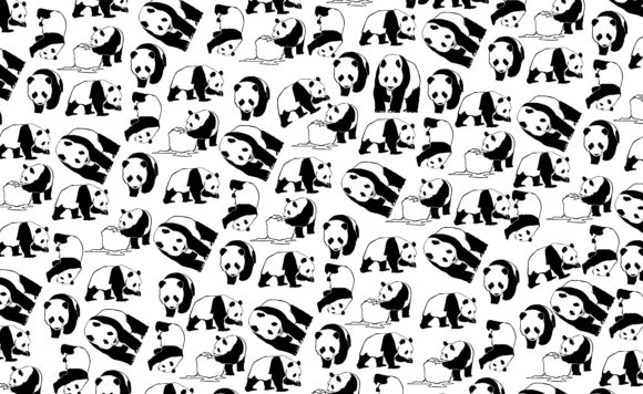 Download Free Paper Wrap With Theme Panda Iine Art Graphic By Arsa Adjie for Cricut Explore, Silhouette and other cutting machines.