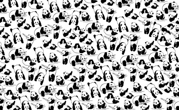 Download Free Paper Wrap With Theme Panda Iine Art Set Graphic By Arsa Adjie for Cricut Explore, Silhouette and other cutting machines.