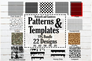 Patterns and Stencil Template Bundle Graphic Crafts By redearth and gumtrees