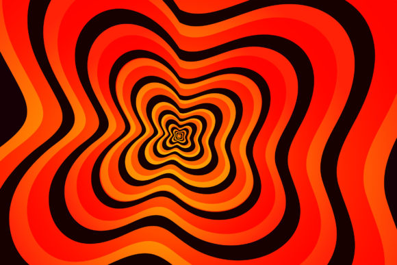 Print on Demand: Psychedelic Optical Illusion #1 Graphic Backgrounds By Miss Chatz