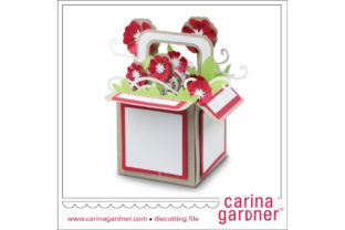 Red Flower Explosion Box Graphic 3D SVG By carina2