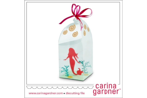 Download Free Red Mermaid In A Bottle Graphic By Carina2 Creative Fabrica for Cricut Explore, Silhouette and other cutting machines.