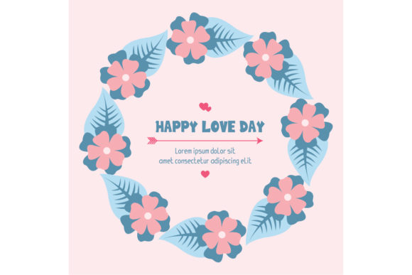 Romantic Happy Love Day Invitation Card Graphic Backgrounds By stockfloral