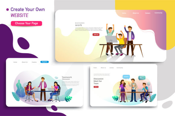 Download Free Web Page Design Of Startup Business Graphic By Otpirusthree for Cricut Explore, Silhouette and other cutting machines.