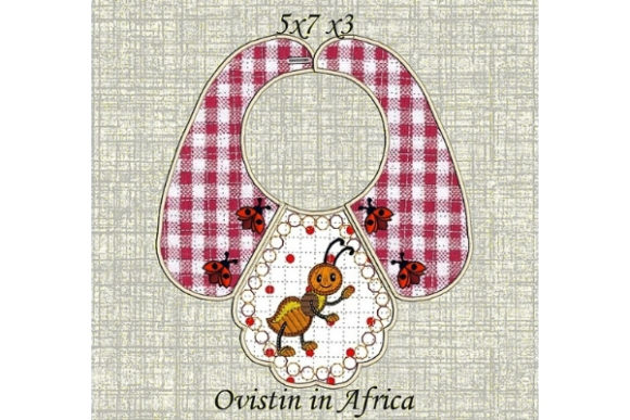 Ant Baby Bib for Small Hoops Nursery Embroidery Design By Ovistin in Africa