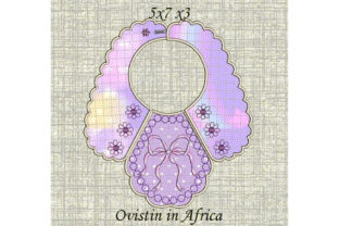 Pink Bow Baby Bib for Small Hoops Nursery Embroidery Design By Ovistin in Africa