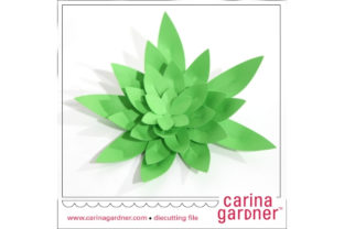 Spiky Succulent Graphic 3D SVG By carina2