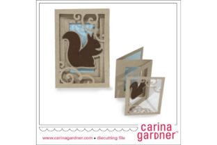 Squirrel Accordion Card Graphic 3D SVG By carina2
