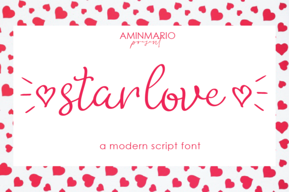 Print on Demand: Star Love Script & Handwritten Font By aminmario