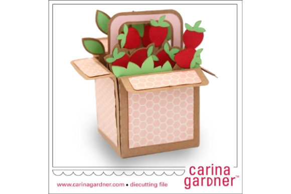 Download Free Strawberry Box Graphic By Carina2 Creative Fabrica for Cricut Explore, Silhouette and other cutting machines.