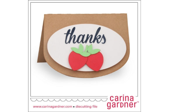 Download Free Strawberry Thank You Card Graphic By Carina2 Creative Fabrica SVG Cut Files