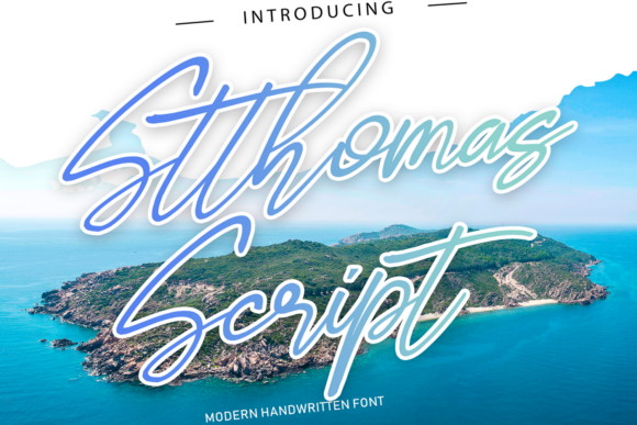 Print on Demand: Stthomas Script Script & Handwritten Font By 177Studio