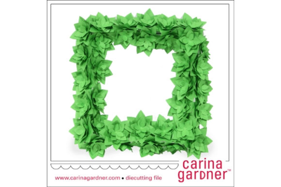Succulent Wreath Graphic 3D SVG By carina2