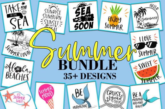 Download Free Summer Bundle Graphic By Freelingdesignhouse Creative Fabrica for Cricut Explore, Silhouette and other cutting machines.