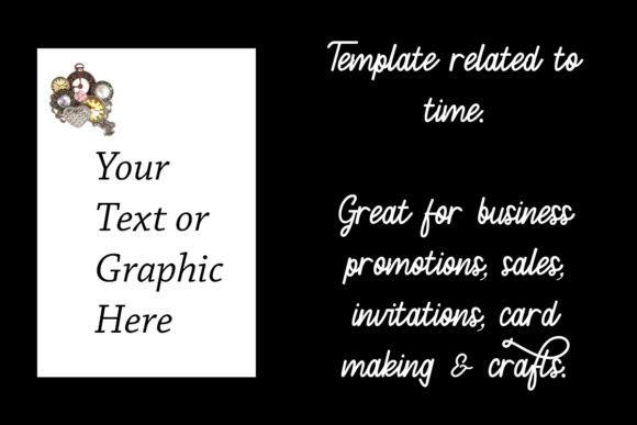 Print on Demand: Template Mockup Related to Time Graphic Print Templates By A Design in Time