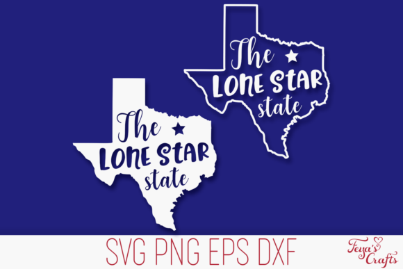 Print on Demand: Texas Cut File - the Lone Star State Graphic Crafts By Anastasia Feya - Image 1