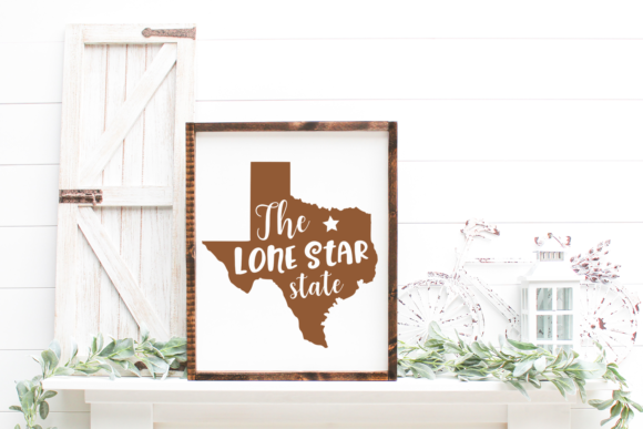 Print on Demand: Texas Cut File - the Lone Star State Graphic Crafts By Anastasia Feya - Image 2