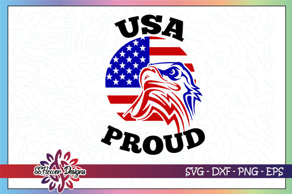 Download Free Usa Proud Eagle American Flag Graphic By Ssflower Creative Fabrica for Cricut Explore, Silhouette and other cutting machines.