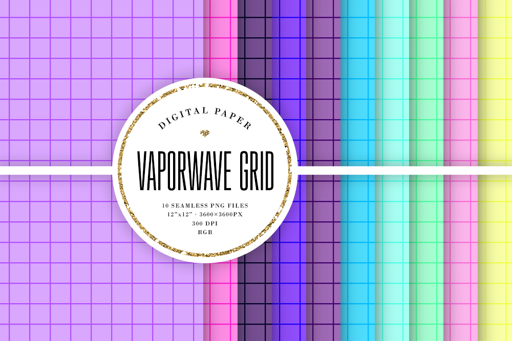 Download Free Vaporwave Grid Background Patterns Graphic By Sabina Leja for Cricut Explore, Silhouette and other cutting machines.