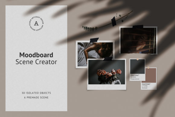 Download Free Wall Moodboard Scene Creator Graphic By Dmitry Mashkin Creative Fabrica for Cricut Explore, Silhouette and other cutting machines.