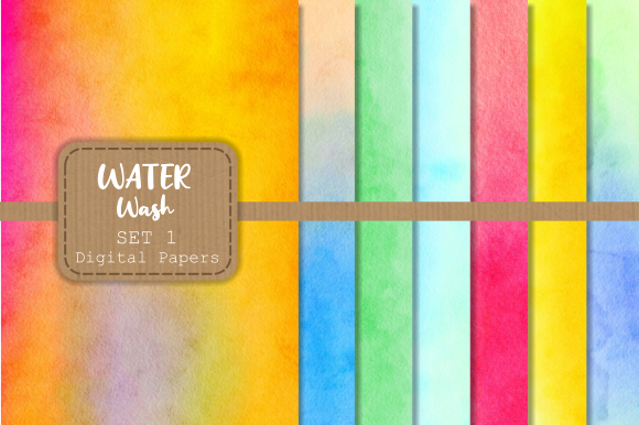 Download Free Watercolor Wash Textured Digital Papers Graphic By Prawny SVG Cut Files