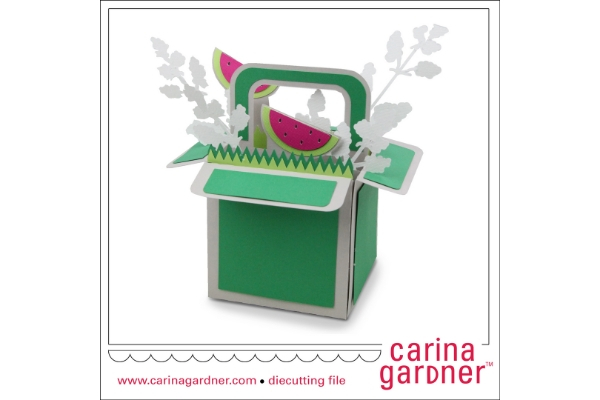 Download Free Watermelon Explosion Box Graphic By Carina2 Creative Fabrica for Cricut Explore, Silhouette and other cutting machines.