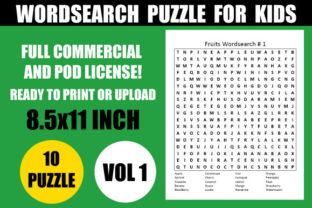 Print on Demand: Wordsearch Puzzle for Kids Vol.1 Graphic Teaching Materials By Creative_Design
