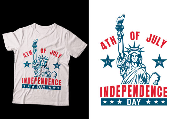 Independence 4th July T-Shirt Design Graphic Print Templates By Storm Brain