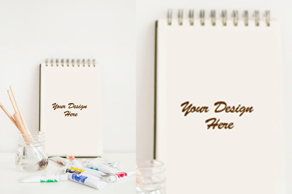 Simple Notebook Mockup Graphic Product Mockups By knou