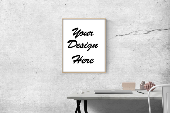 Download Free Simple Poster Frame Board Mockup Graphic By Knou Creative Fabrica for Cricut Explore, Silhouette and other cutting machines.