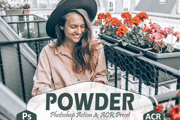 Print on Demand: 10 Powder Photoshop Actions, ACR Presets Graphic Actions & Presets By Mattte Studio