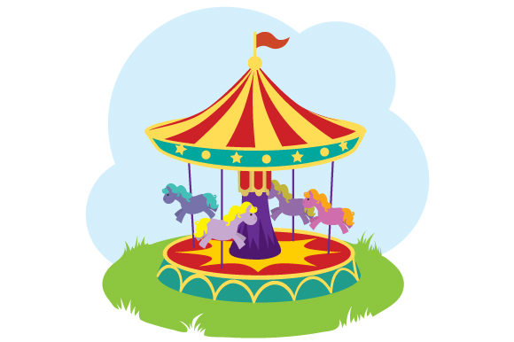 Merry-go-round Kids Craft Cut File By Creative Fabrica Crafts