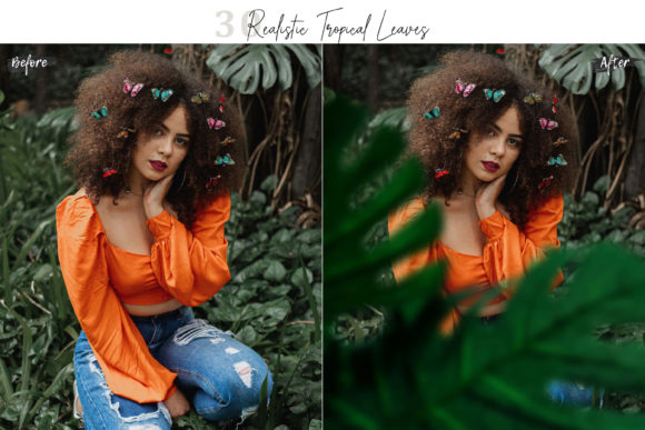 30 Realistic Tropical Leaves Overlay Graphic By 3motional Creative Fabrica Find the best free stock images about tropical leaves. creative fabrica