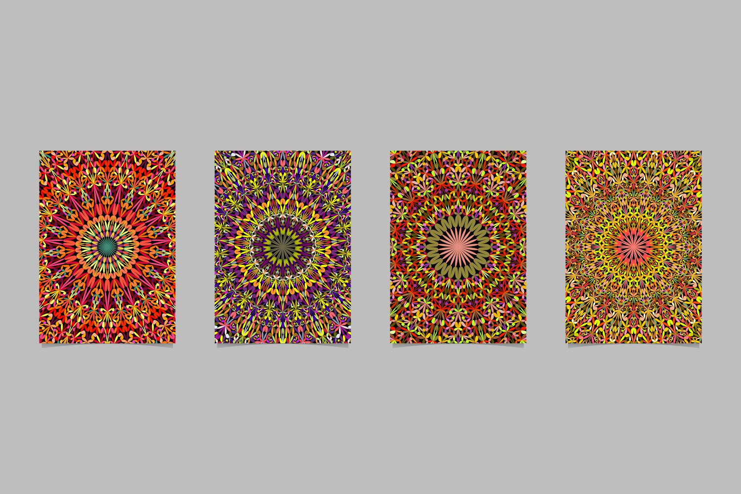 4 Floral Mandala Page Backgrounds Graphic By Davidzydd