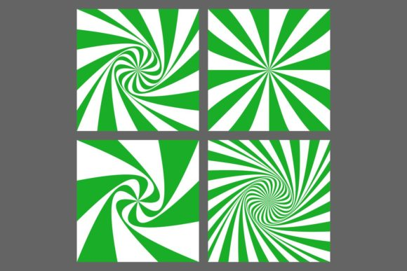 4 Green Spiral, Ray Burst Backgrounds Graphic Backgrounds By davidzydd