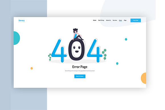 Download Free 404 Page Not Found Graphic By Artgalaxy Creative Fabrica for Cricut Explore, Silhouette and other cutting machines.