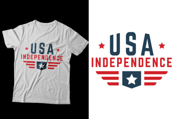 4th July Independence Day T-Shirt Graphic Print Templates By Storm Brain