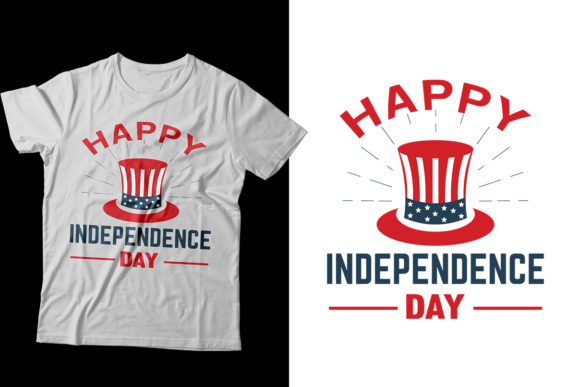 4th July Independence Day T-Shirt Design Graphic Print Templates By Storm Brain