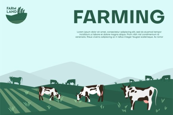 Download Free Agriculture Farm Banner Graphic By Danirablog Creative Fabrica for Cricut Explore, Silhouette and other cutting machines.