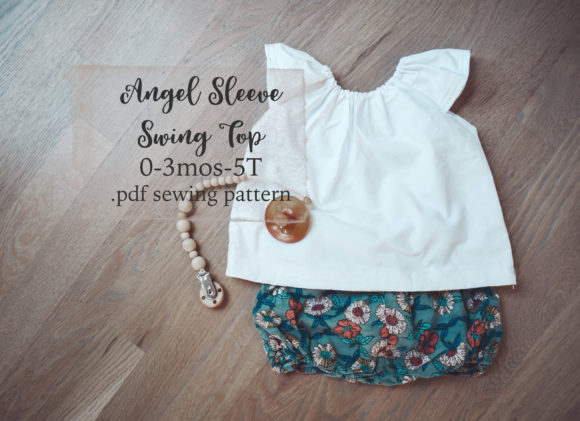 Angel Sleeve Swing Top Sewing Pattern Graphic Needle Arts By Sweet Mama Makes