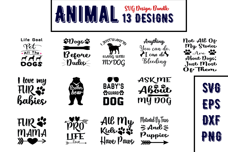 Download Free Animal Bundles Graphic By Design Store Creative Fabrica for Cricut Explore, Silhouette and other cutting machines.