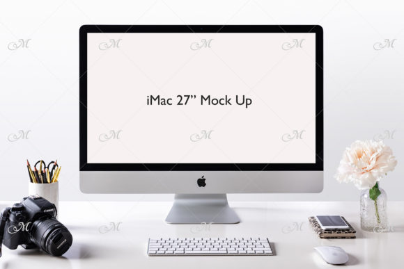 Apple IMac Mock-up Graphic Product Mockups By MaddyZ